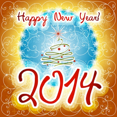 Happy New Year beautiful winter background vector