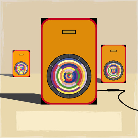 vintage music sound speakers backgrounds Vector