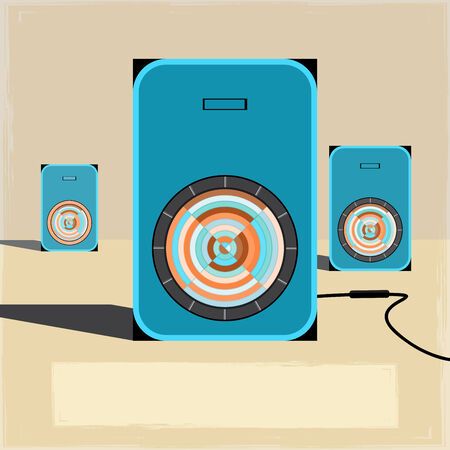 vintage music sound speakers backgrounds 01 Vector