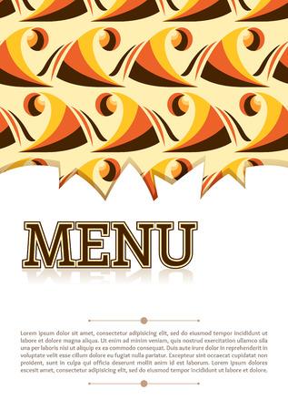 alimentos y bebidas: bebidas de la comida de la plantilla cubierta del men� de color amarillo naranja marr�n