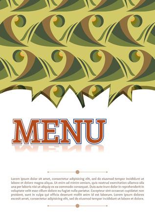 alimentos y bebidas: plantilla cubierta del men� de bebidas de la comida marr�n verde