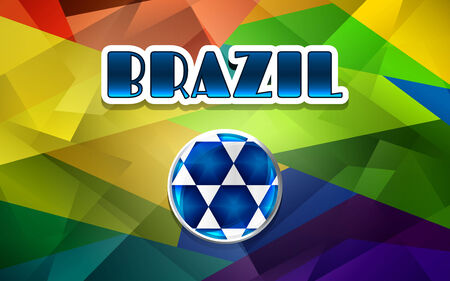 brasilia: football abstract brazil background or poster