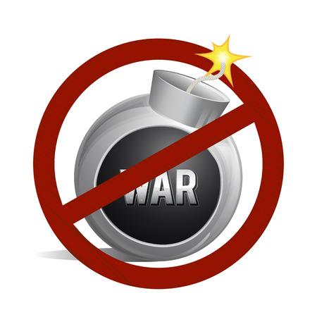 no war no bombs Stock Vector - 27539645