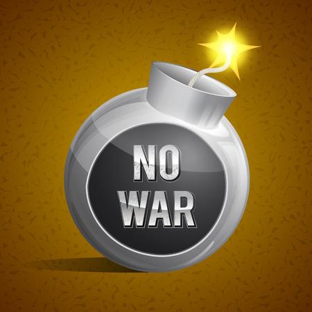 no war no bombs Stock Vector - 27539574
