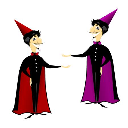 hocus: wizard magician man cartoon