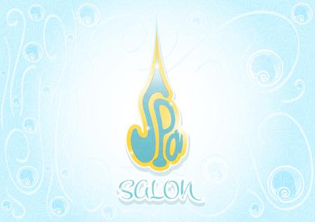 ceremonial makeup: Spa salon cover blue color horizontal landscape template page