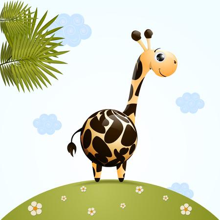 cute giraffe character  Vector