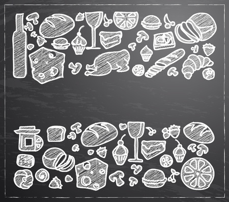 variety: food and drinks variety icons background