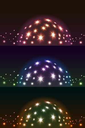 astral: Shiny spheres in the night sky set