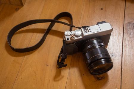 on wood floor: camera on wood floor