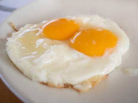 sunnyside: Fried eggs raw yolk in Breakfast