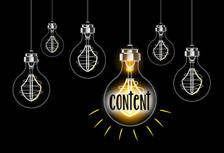 Light bulb concept on the theme of content