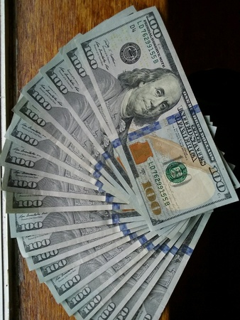 mucho dinero: El dinero mucho dinero. Foto de archivo