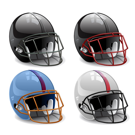 canadian football: American football helmet vector illustration Illustration