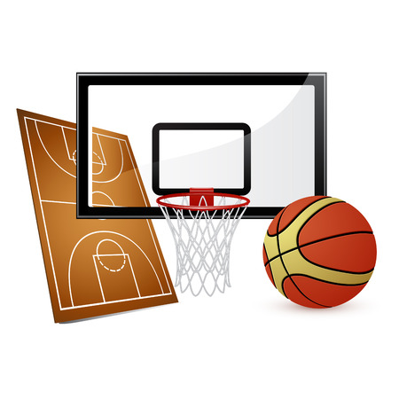 with sets of elements: Basketball Vector Elements