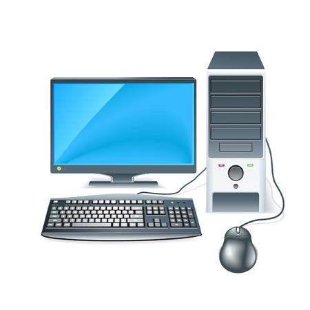 Computer Desktop 向量圖像