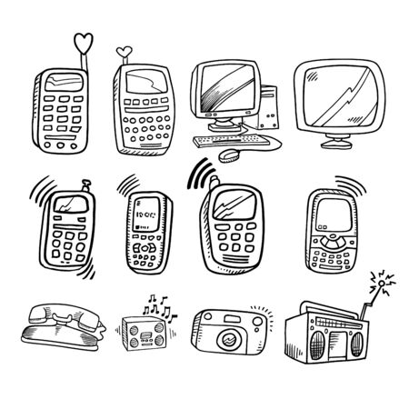 electronics doodle Collection
