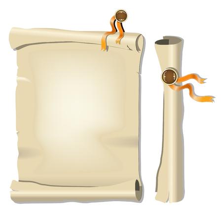 papier a lettre: Vieux Papiers. Vector illustration