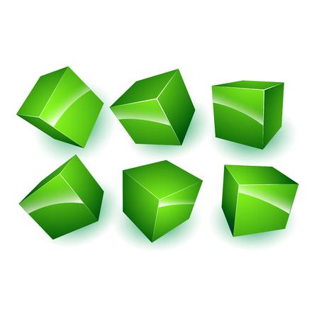 3d: 3d cubes  Illustration