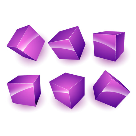 rotations: 3d cubes  Illustration