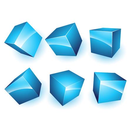 3d cubes  Ilustração