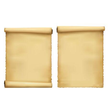 old blank scroll paper Illustration