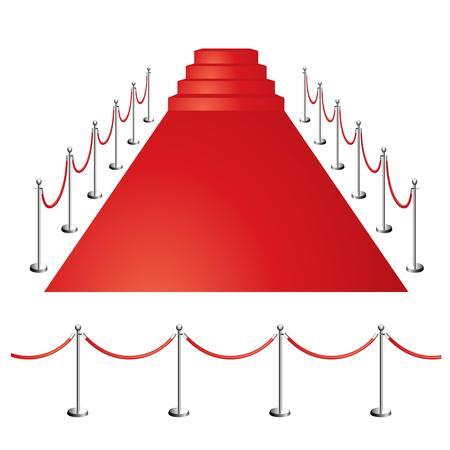 rode loper Stock Illustratie