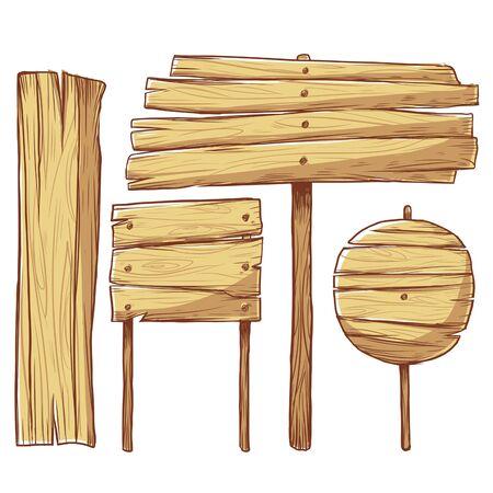 cartoon wooden sign