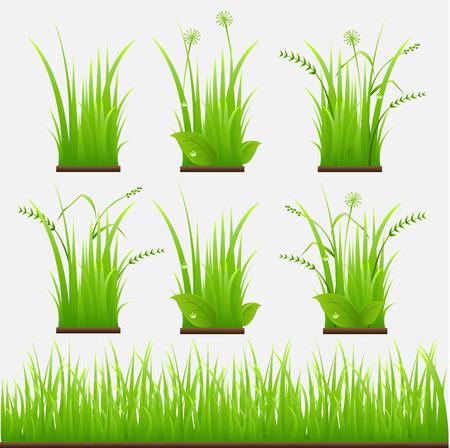 gras vector illustratie Stock Illustratie