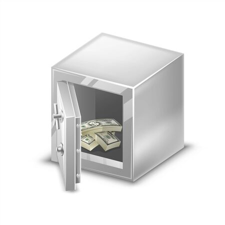 strapped: Small safes with cash and coins