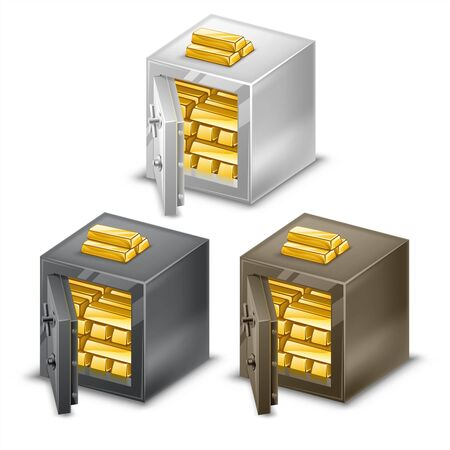 strapped: Small safes with gold bars