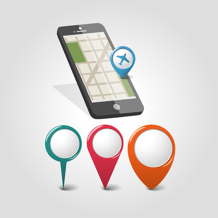 positioning: Global Positioning System, navigation. Vector illustration Illustration