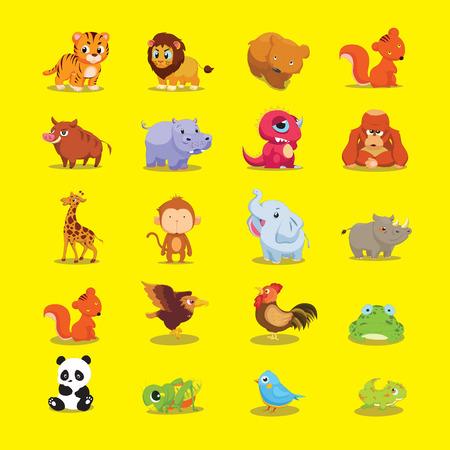 lion and lamb: Cute Animal Vector Illustration Illustration