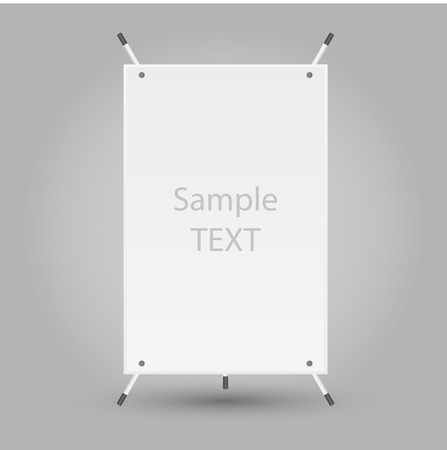 Banner Stand vector Illustration
