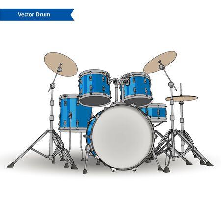 drum kit: Drum Kit Vector Illustration