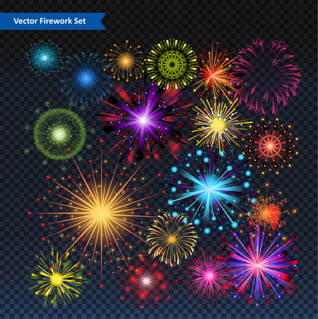 celebration background: Firework Vector set
