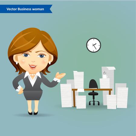 zakelijke vrouw: business woman vector