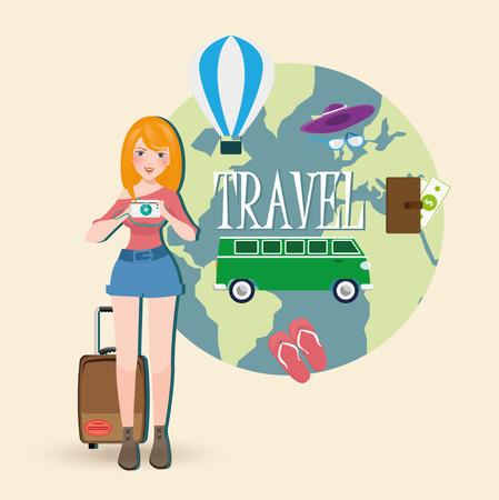 traveler: Traveler vector illustration Illustration