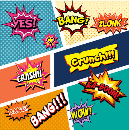 Comic Effect Vector Illustration