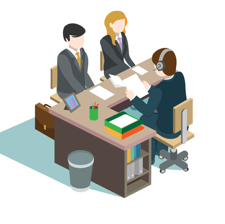 office space: Office Worker Illustration