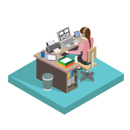 Female office worker Ilustrace