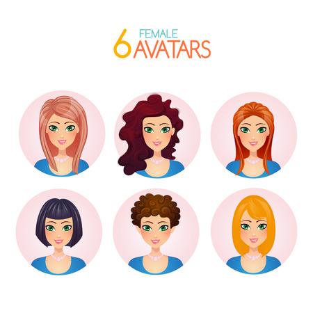 Girls Avatars Illustration