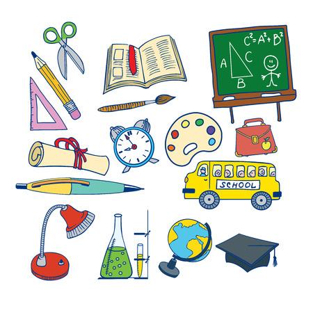 Set of School Icons Ilustração