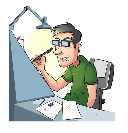 unrecognizable person: Creative People Working Illustration