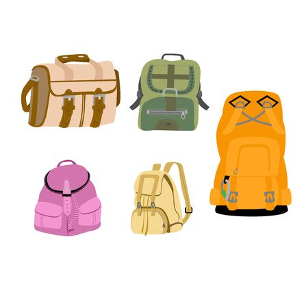 ruck sack: Colorful Backpacks Illustration