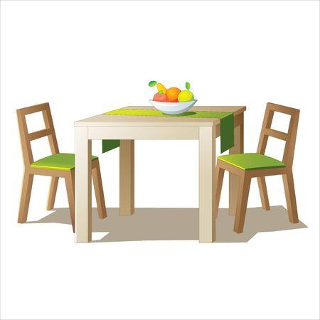 식탁 벡터 일러스트