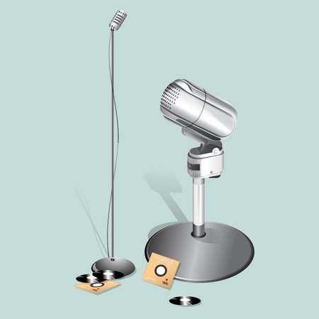 comedy: Vintage microphone