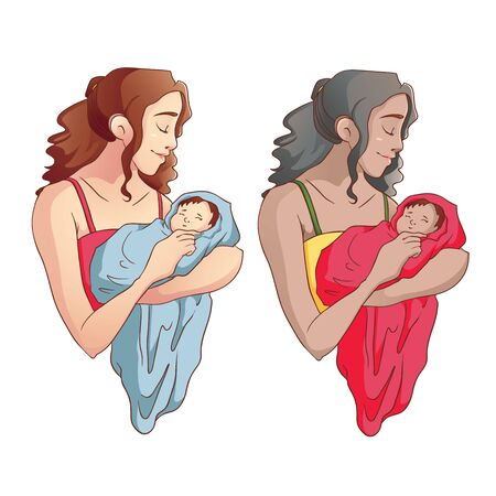 mother holding baby: Mother holding a Baby