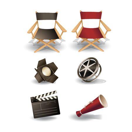 walk of fame: Cinema Icon Set Illustration