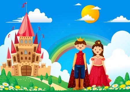 Cartoon Prince and Princess